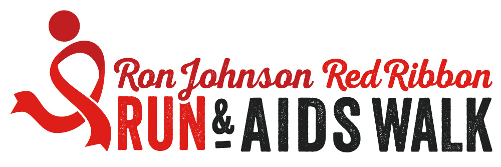 Ron Johnson Red Ribbon Run & AIDS Walk Logo